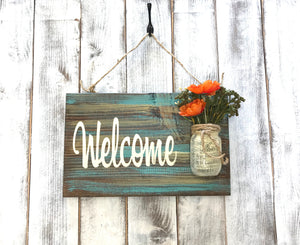 Lake House Sign - Welcome Sign for the Lake - Red Roan Signs | Custom Rustic Home Decor