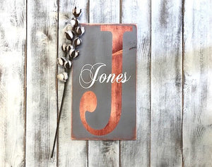 Wood Signs Personalized with Family Name - Gift Idea for Newlyweds