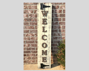 Large Welcome Sign Rustic Country - Barn Red - Red Roan Signs | Custom Rustic Home Decor