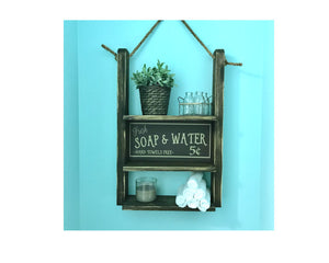 Bathroom Shelf - Bathroom Shelving - Rustic Home Decor - Red Roan Signs | Custom Rustic Home Decor