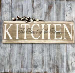 Farmhouse Sign Kitchen - Farmhouse Wall Decor- Wood Farmhouse Sign - Red Roan Signs | Custom Rustic Home Decor