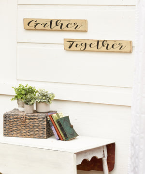 Gather Together Kitchen Signs - Rustic Kitchen Sign Set - Kitchen Decor