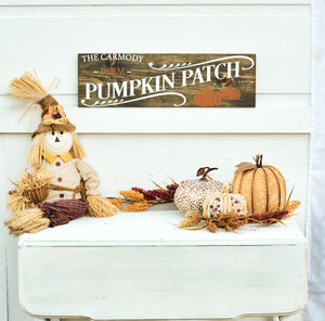 Personalized Pumpkin Patch Sign