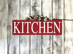 Farmhouse Rustic Red Wood Sign for Your Kitchen - Gift for Her - Red Roan Signs | Custom Rustic Home Decor