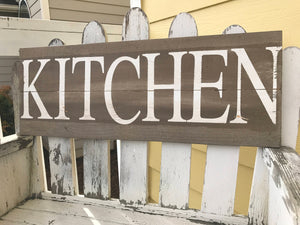 Farmhouse Kitchen Rustic Wooden Sign - Red Roan Signs | Custom Rustic Home Decor