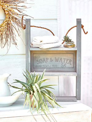 Soap & Water Bathroom Shelf
