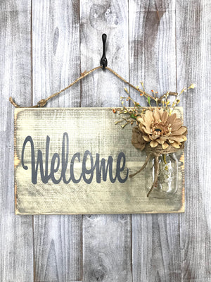 Rustic Home Decor Ideas - Welcome Porch Sign - Red Roan Signs | Custom Rustic Home Decor