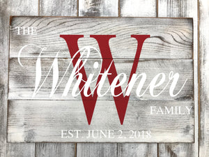 Personalized Custom Name Signs Last Name Wood Signs Home Decor Redroansigns