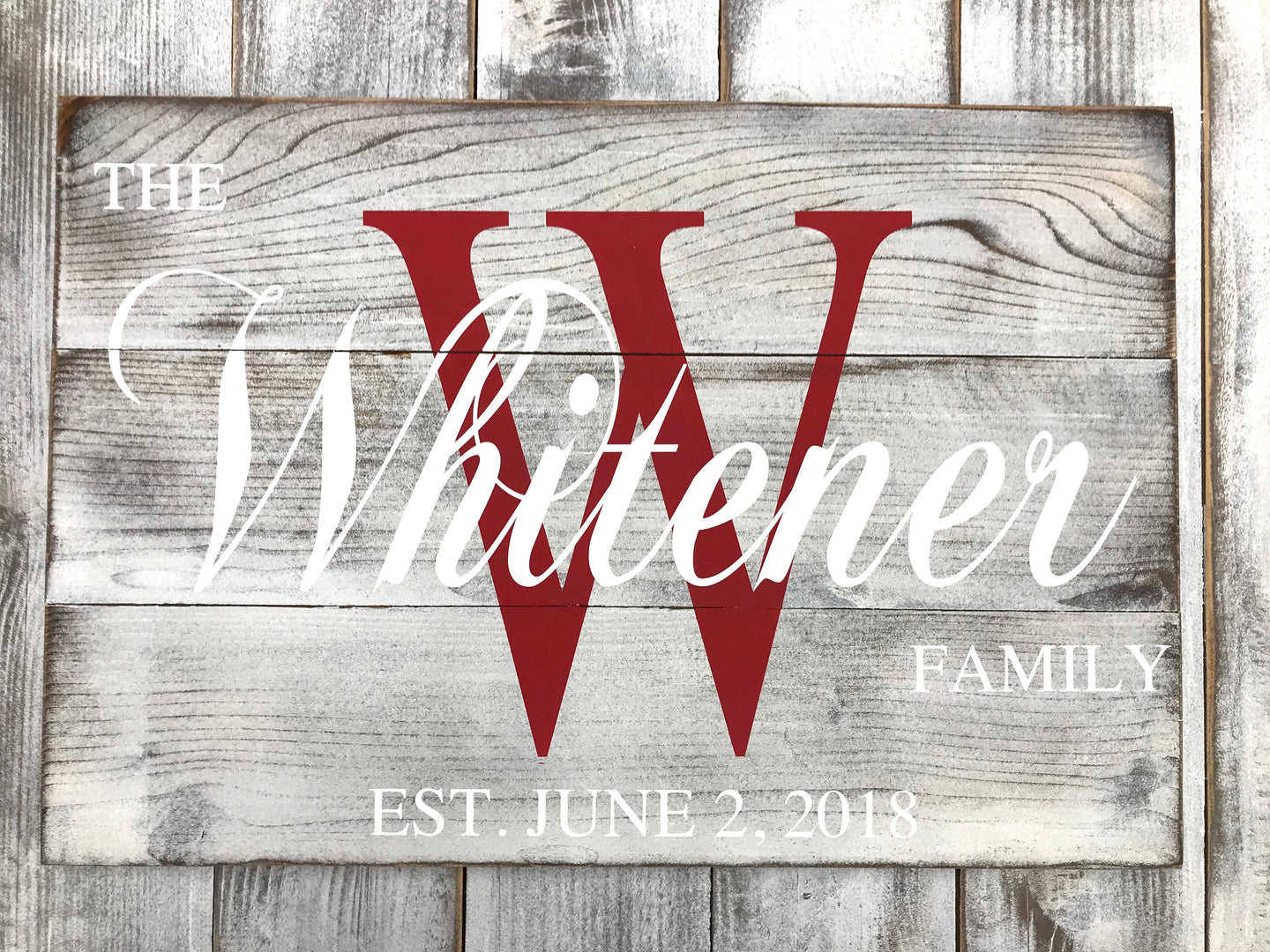Custom Last Name Family Sign - Red Roan Signs | Custom Rustic Home Decor