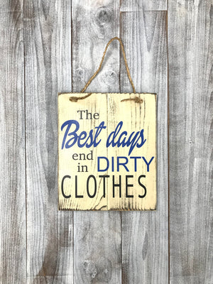 Dirty Clothes Rustic Sign - Bathroom Decor - Laundry Room Decor - Red Roan Signs | Custom Rustic Home Decor