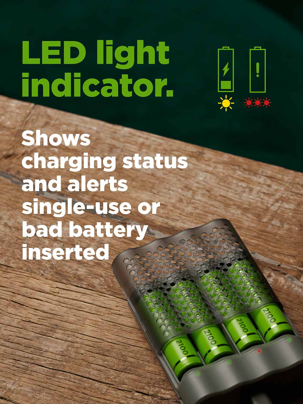 recyko speed charger dock - led light indicator