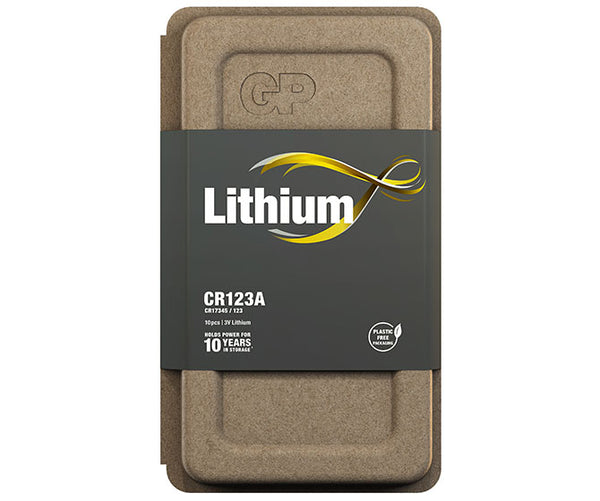 GP Primary Lithium - CR123A - Pack of 10