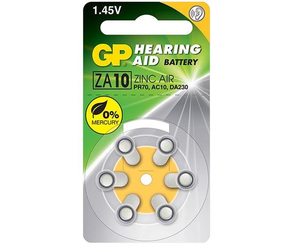 GP Zinc Air Button for Hearing Aid ZA10F (Mercury Free)