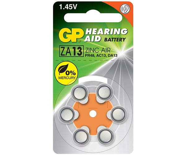 GP Zinc Air Button for Hearing Aid ZA13F (Mercury Free)