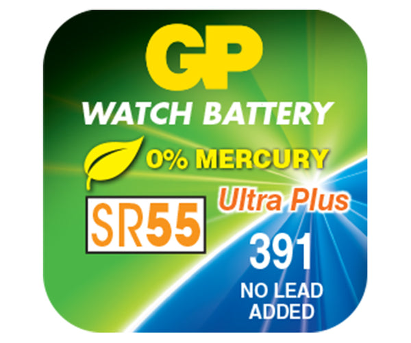 GP Silver Oxide Battery - 391