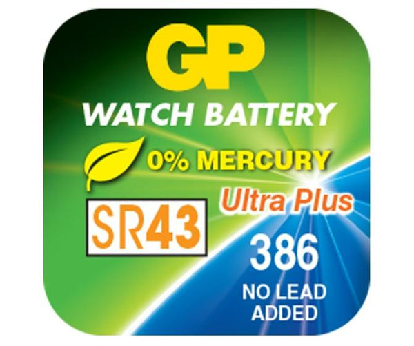 GP Silver Oxide Battery - 386