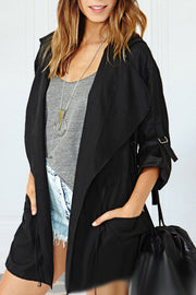 Ootdgal Long Hooded Grey Jacket