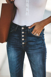 Ootdgal Only The Best Skinny Button Jeans