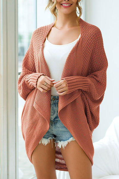 Ootdgal Long Sleeve Swallowtail Cardigan