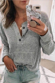 Ootdgal Open Button Long Sleeve Sweater