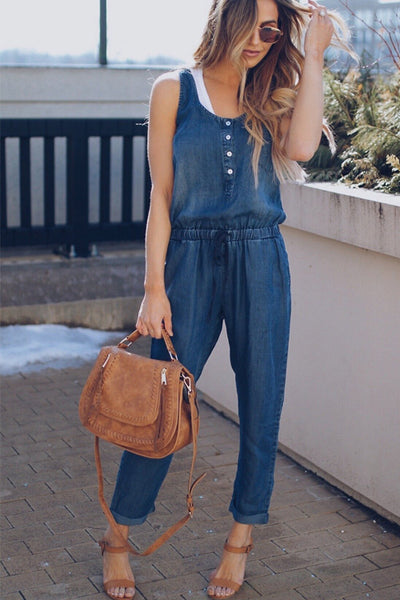 Ootdgal Vest Denim Jumpsuit