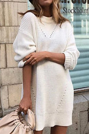Round Neck Knit Dress