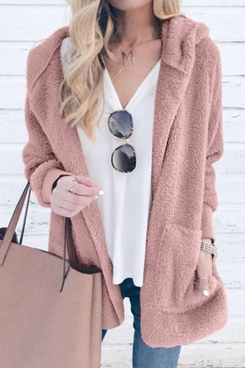 Ootdgal Hooded Collar Winter Apricot Coat(3 Colors)