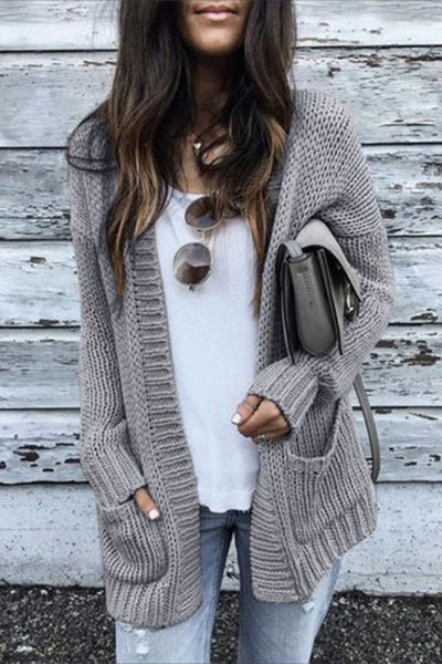 Ootdgal Medium Long Thick Sweater Cardigan