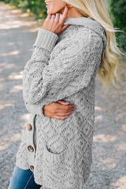 Ootdgal Hooded Knitted Cardigan