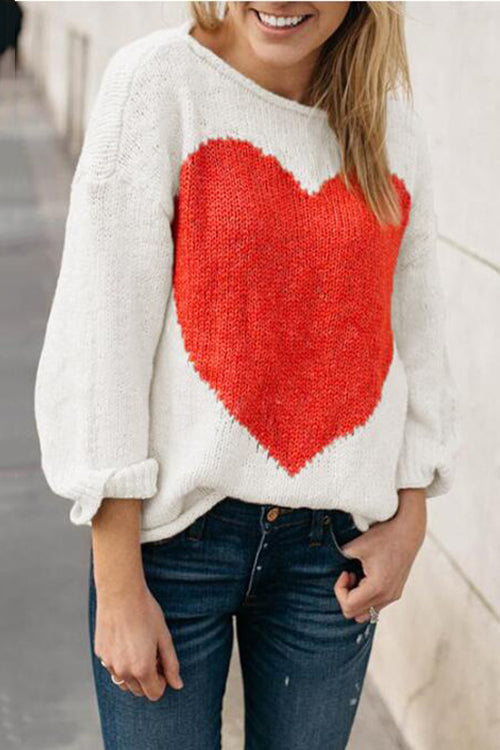 Ootdgal One-word Collar Intarsia Sweater