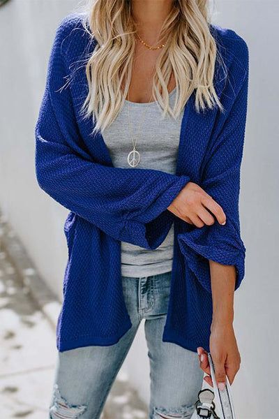 Ootdgal Long Sleeve Blue Cardigan (3 Colors)