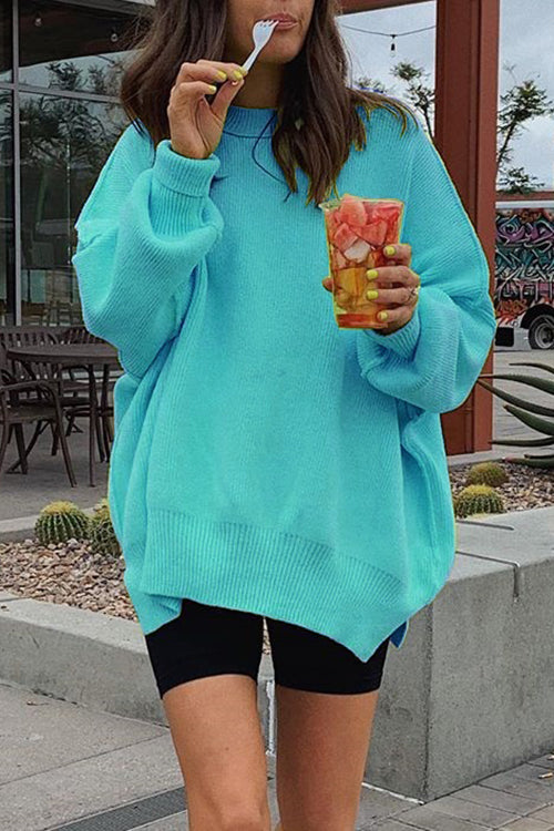 Ootdgal Round Neck Candy Long Sleeve Sweater