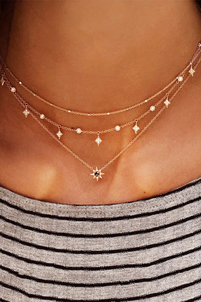 Ootdgal Star Charm Layered Chain Necklace