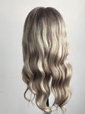 Long Ombre  Blonde Mixed Human Lace Front Wigs Full Lace Wigs Preplucked Hairline with Baby Hair