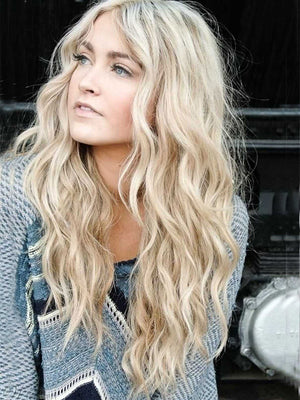 Long Blonde Wavy Human Full Lace Wigs Lace Front Wigs Real 360 lace Wigs