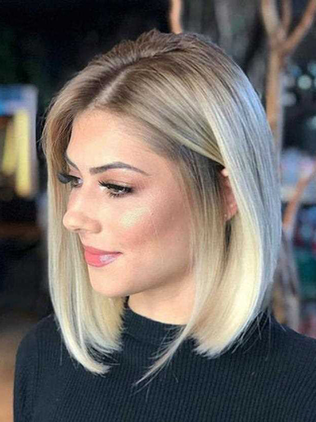 Ombre Bob Wigs Lace Front Blonde Human Hair 2 Tone wigs Golden Brown Root to Blond Straight Brazilian Hair Pre Plucked Bleached Knots Bob Cut wigs
