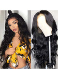 Brazilian body wave Lace Front wigs human hair 150% Density Unprocessed Virgin human hair wigs for black women Pre Plucked Natural Black