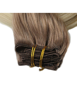 Ombre Blonde Clip in Hair Extensions (#6/#613)