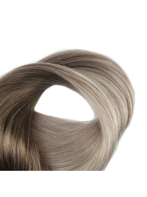 Ombre Blonde Clip in Hair Extensions #8 Fading to #60 #18
