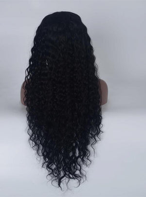 100% Real Long Curly Bleached Knots Human lace Front Wigs Full Lace wigs for Black Women Pre Plucked Hairline with Baby Hair
