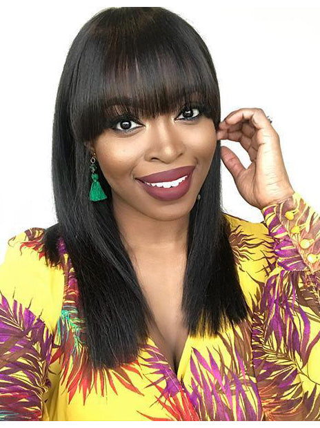 100% Real Virgin 150%/180% Density Pre Plucked Straight Bob Wigs Human Lace Front Wigs with bangs for Black Women