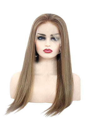 Chestnut Brown to Blonde Highlights Human Lace Front Wigs Preplucked Natural Hairline Full Lace Wigs