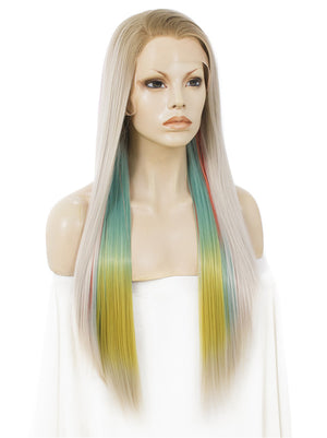 Long Colorful Synthetic Lace Front Wigs