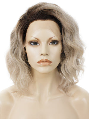 Short Ombre Ash Blonde  Synthetic Lace Front Wigs