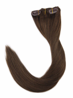 Medium reddish Brown Clip in Hair Extensions (#4)