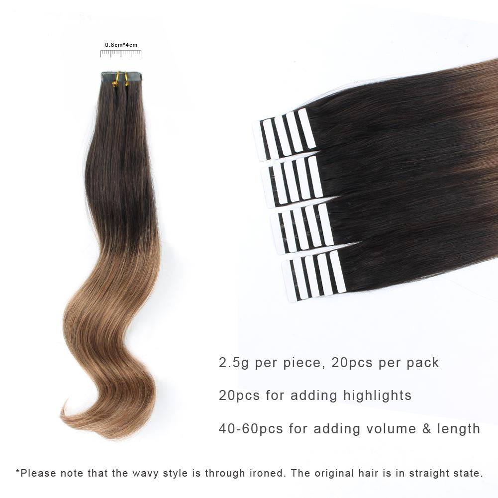 Tape In Hair Extension Ombre T#2/#6