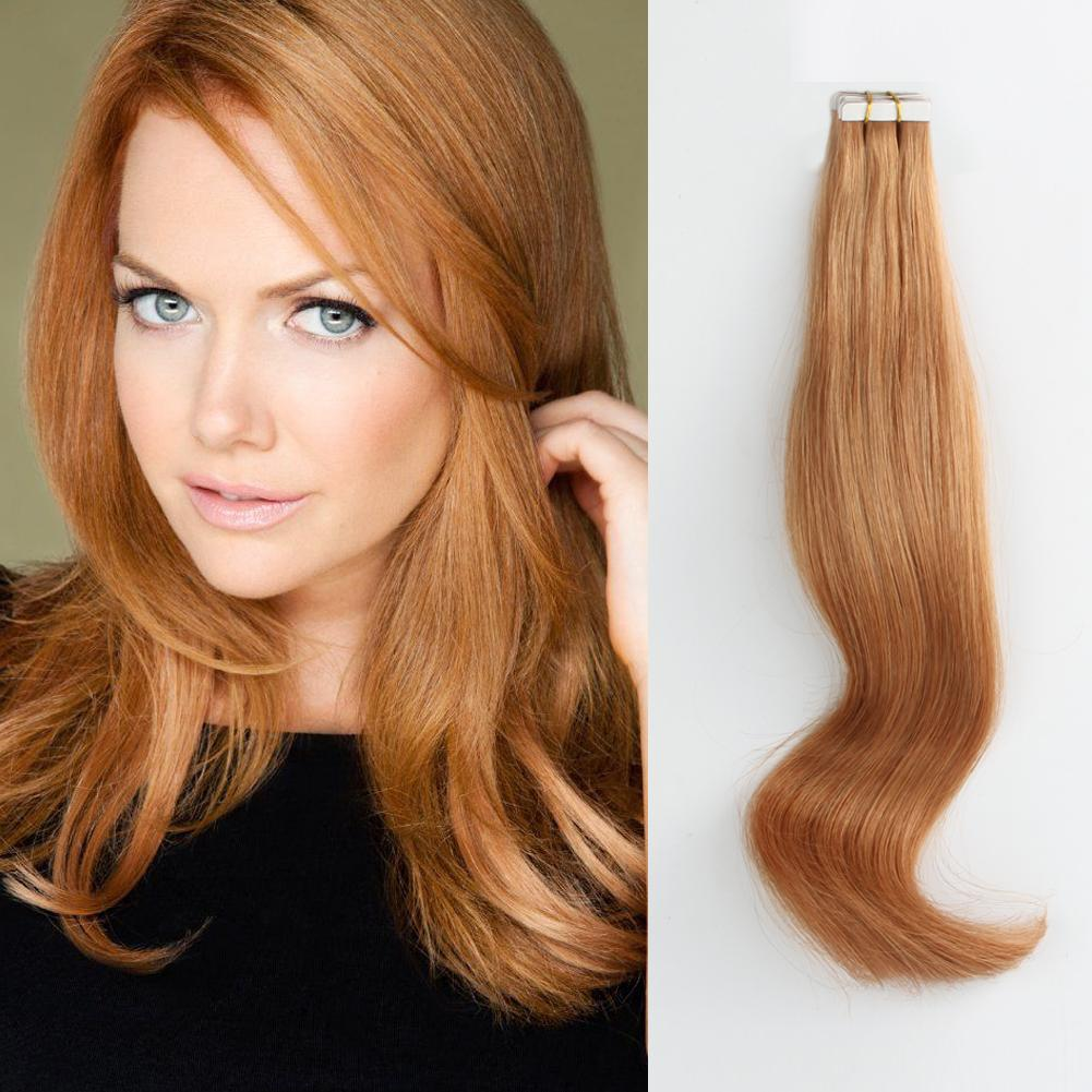 Tape In Hair Extension #30 Light Auburn