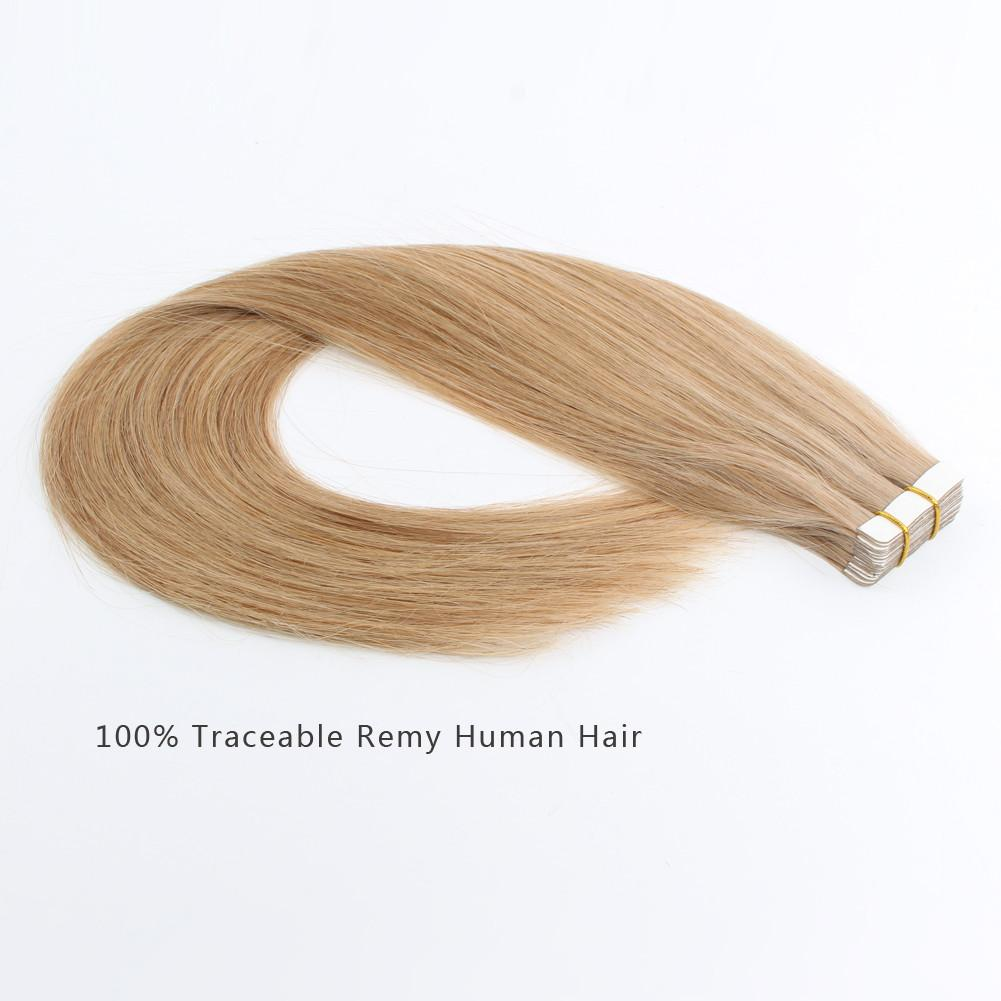 Tape In Hair Extensions #12 Golden Brown