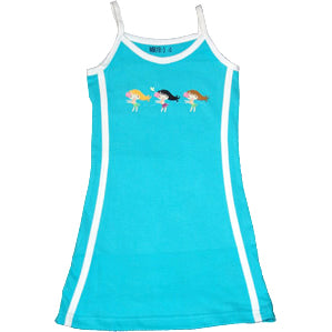 Aqua Cotton Tennis Dress - Hulas