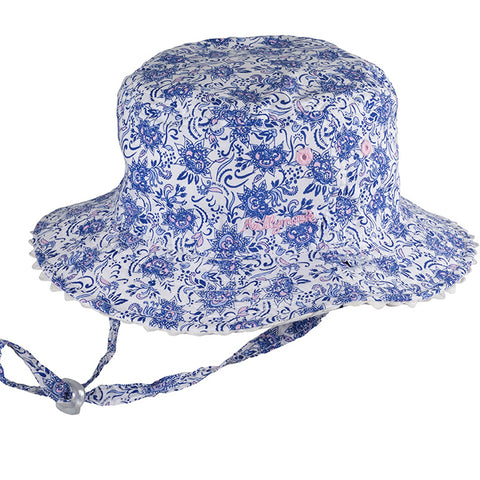 Image of Baby Girls Kaya Sun Hat - Reversible